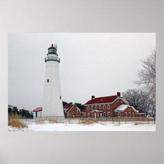 Fort Gratiot Light in Winter 8 Poster
