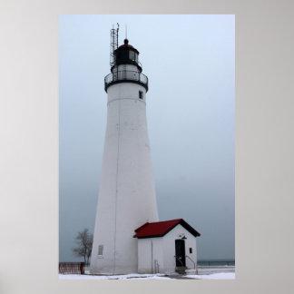 Fort Gratiot Light in Winter Poster