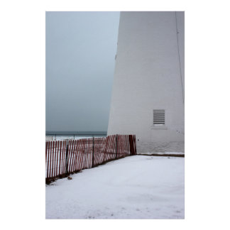 Fort Gratiot Light with Fence Print
