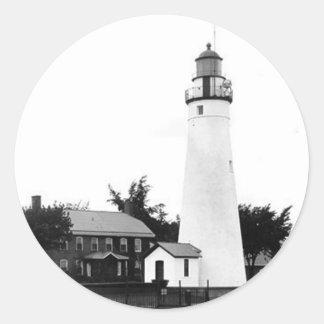 Fort Gratiot Lighthouse 2 Classic Round Sticker