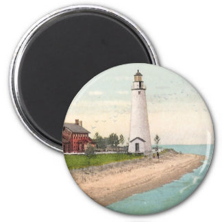 Fort Gratiot Lighthouse 2 Inch Round Magnet