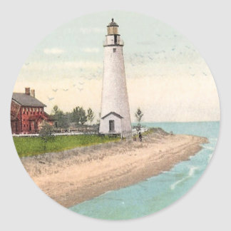 Fort Gratiot Lighthouse Classic Round Sticker