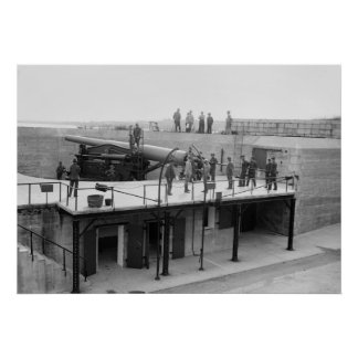 Fort Hamilton Cannon, 1908 Posters