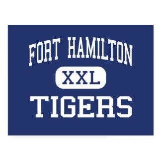 Fort Hamilton - Tigers - High - Brooklyn New York Postcard