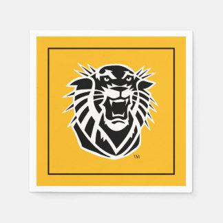 Fort Hays State Primary Mark | Black & White Logo Napkin