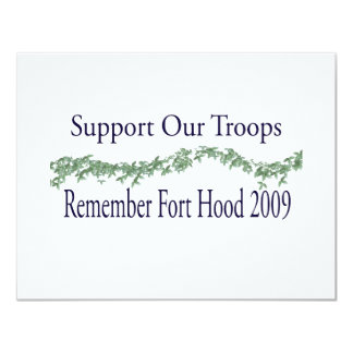 fort hood 2009 - Support Our Troops Card