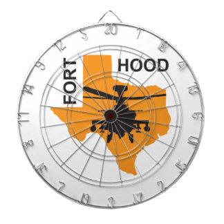 Fort Hood Base Dartboard With Darts