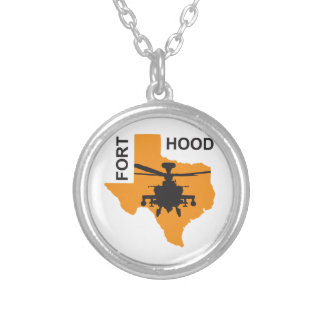 Fort Hood Base Silver Plated Necklace