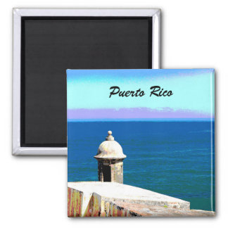 Fort in San Juan, Puerto Rico 2 Inch Square Magnet