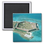 Fort Jefferson National Park 2 Inch Square Magnet