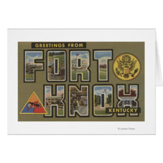 Fort Knox Kentucky - Large Letter Scenes Cards