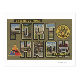 Fort Knox, Kentucky - Large Letter Scenes Postcard