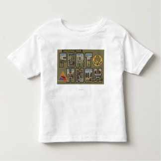 Fort Knox, Kentucky - Large Letter Scenes Shirts