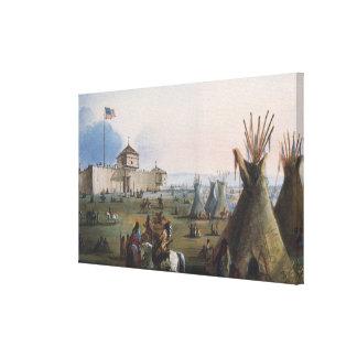 Fort Laramie, Sublette Fort, Fort William, Miller Canvas Print