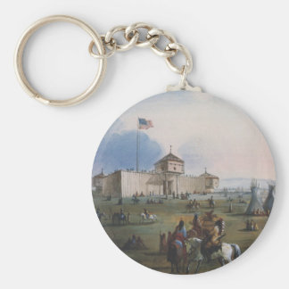 Fort Laramie, Sublette Fort, Fort William, Miller Keychain