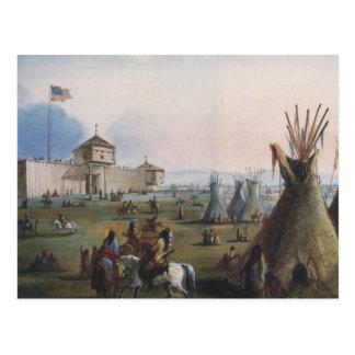 Fort Laramie, Sublette Fort, Fort William, Miller Postcard