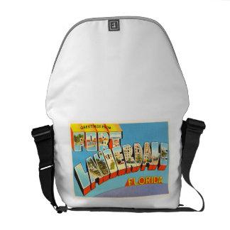 Fort Lauderdale #2 Florida FL Old Travel Souvenir Courier Bag