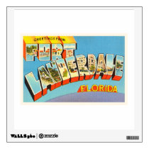 Fort Lauderdale #2 Florida FL Old Travel Souvenir Wall Decal