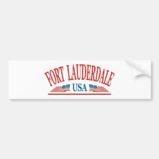 Fort Lauderdale Car Bumper Sticker