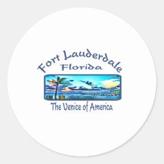 Fort Lauderdale Classic Round Sticker