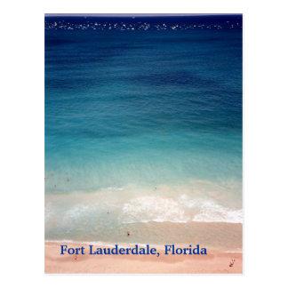 Fort Lauderdale, Florida Aerial Photo post card FL
