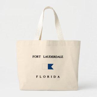 Fort Lauderdale Florida Alpha Dive Flag Large Tote Bag