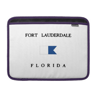 Fort Lauderdale Florida Alpha Dive Flag MacBook Air Sleeves