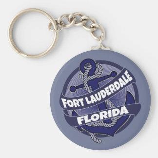 Fort Lauderdale Florida anchor swirl keychain