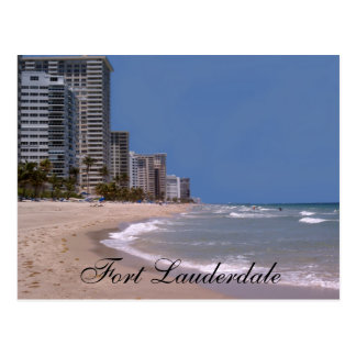 Fort Lauderdale Florida Beach & Ocean  Postcard