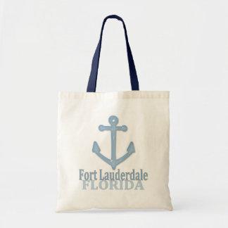 Fort Lauderdale Florida blue anchor reusable bag