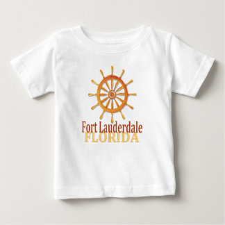 Fort Lauderdale Florida captain's wheel baby tee