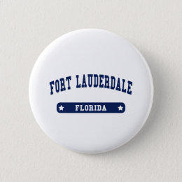 Fort Lauderdale Florida College Style tee shirts Button