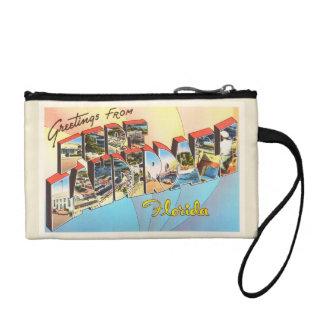 Fort Lauderdale Florida FL Vintage Travel Souvenir Coin Wallet