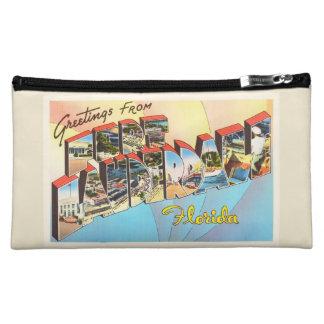 Fort Lauderdale Florida FL Vintage Travel Souvenir Cosmetic Bag