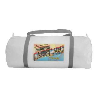 Fort Lauderdale Florida FL Vintage Travel Souvenir Gym Bag