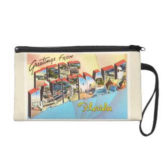 Fort Lauderdale Florida FL Vintage Travel Souvenir Wristlet