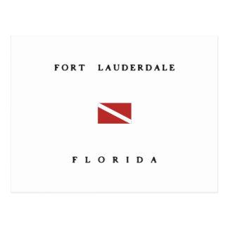 Fort Lauderdale Florida Scuba Dive Flag Postcard