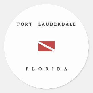 Fort Lauderdale Florida Scuba Dive Flag Sticker