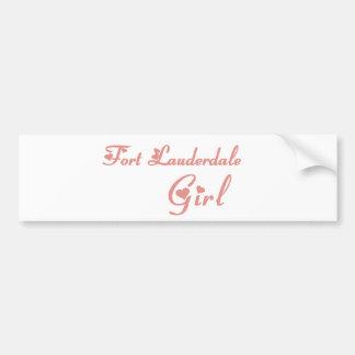 Fort Lauderdale Girl tee shirts Car Bumper Sticker