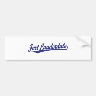 Fort Lauderdale in Blue Car Bumper Sticker
