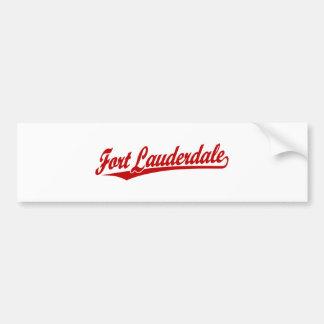 Fort Lauderdale in Red Car Bumper Sticker