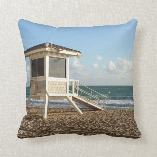 Fort Lauderdale Lifeguard Stand Pillow