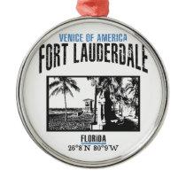 Fort Lauderdale Metal Ornament