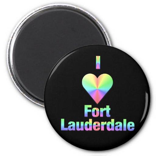 Fort Lauderdale -- Pastels Refrigerator Magnet
