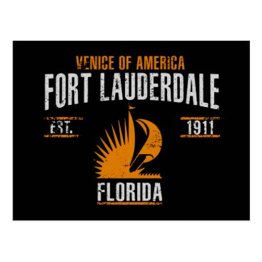 USA Themed Fort Lauderdale Postcard
