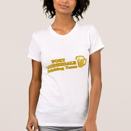 Fort Lauderdale que bebe las camisetas del equipo