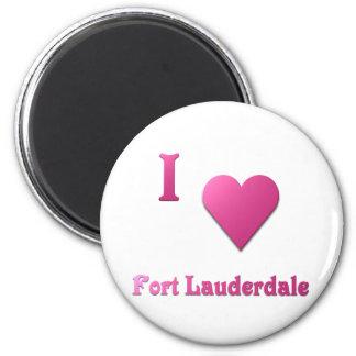 Fort Lauderdale -- Rosas fuertes Imán Redondo 5 Cm