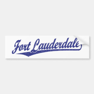 Fort Lauderdale script logo in blue Car Bumper Sticker