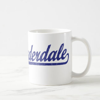 Fort Lauderdale script logo in blue Coffee Mug