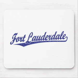 Fort Lauderdale script logo in blue Mouse Pad